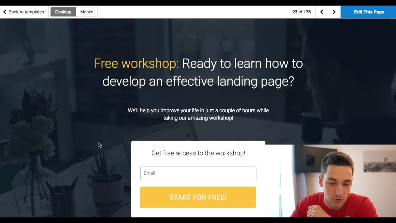 wordpress landing page tutorial