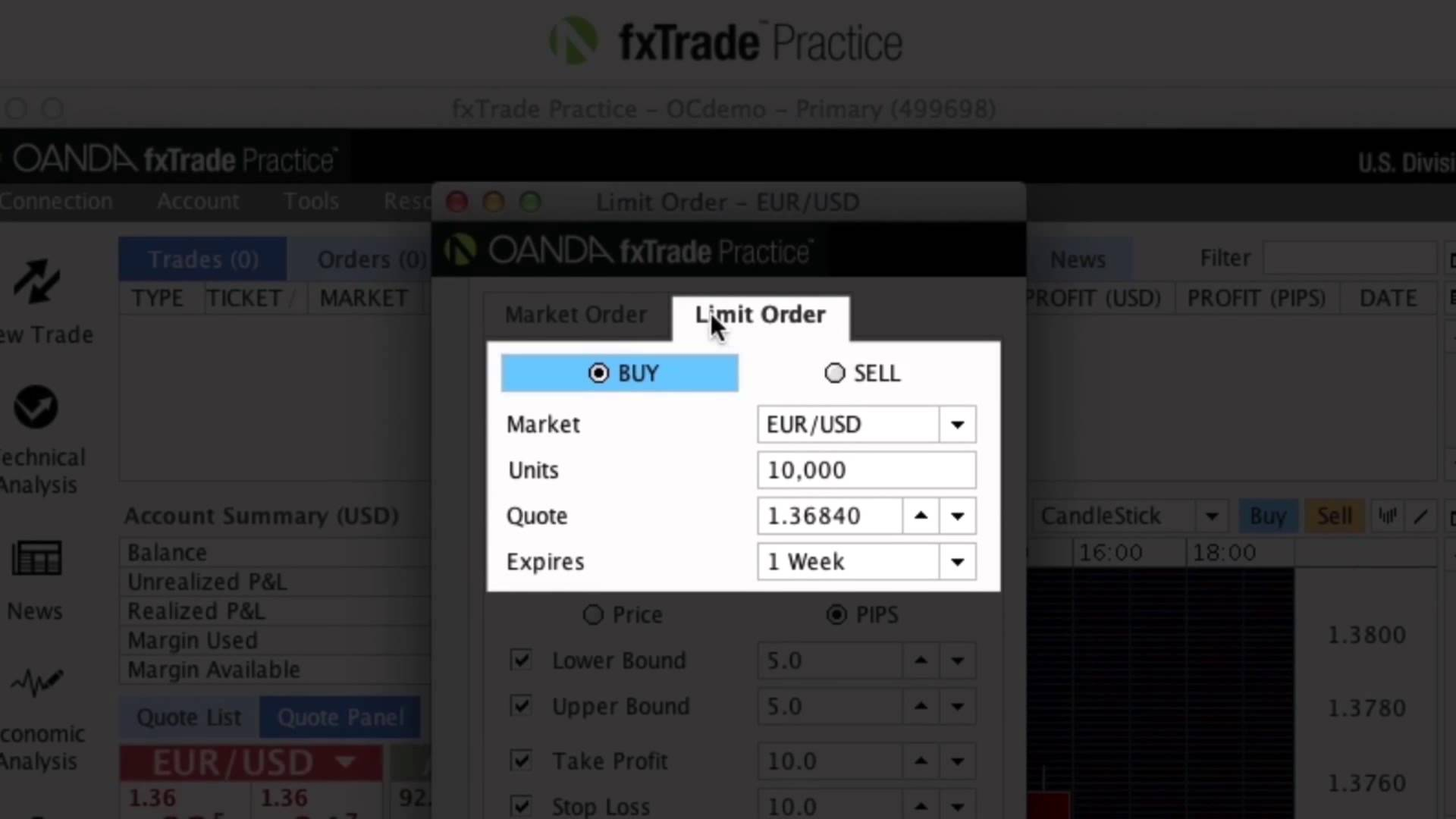 Introduction to OANDA fxTrade