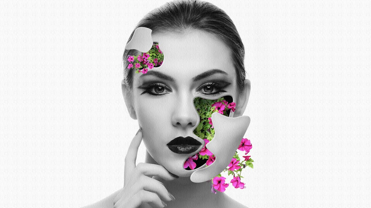 Photoshop tutorial flower face effects all free video tutorials baditri Image collections