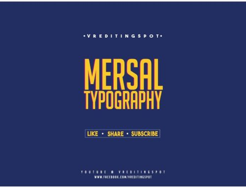 Mersal Movie Typography 4k| Photoshop Tutorials | VREDITINGSPOT