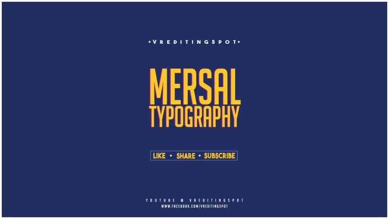Mersal Movie Typography 4k| Photoshop Tutorials