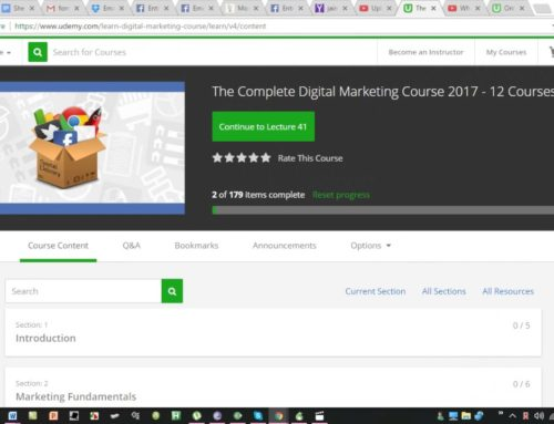 Overview of Digital Marketing Course at Udemy