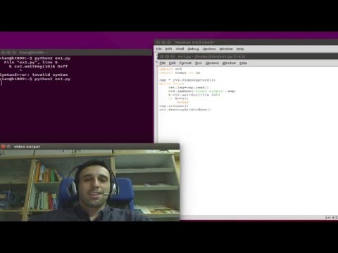 OpenCV - Python (Capture Video from Camera)-TUTORIAL - All
