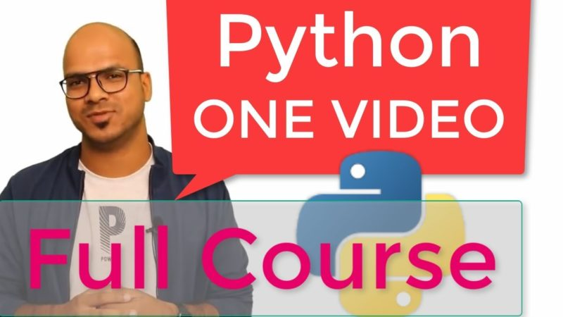 Python Tutorial for Beginner | Full Course - All Free Video