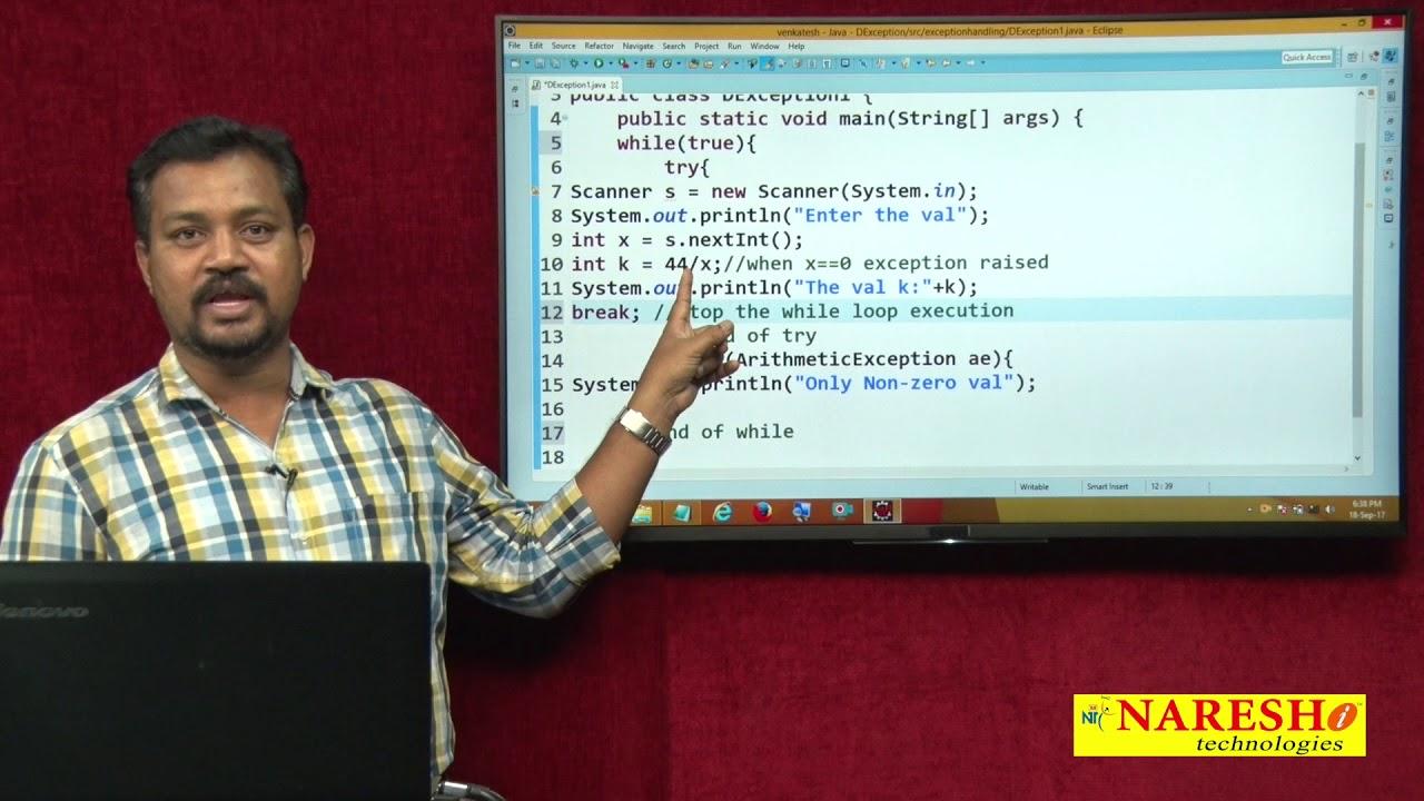 Core Java Tutorial | Exception Handling in Java Part 1 | Mr. Venkatesh