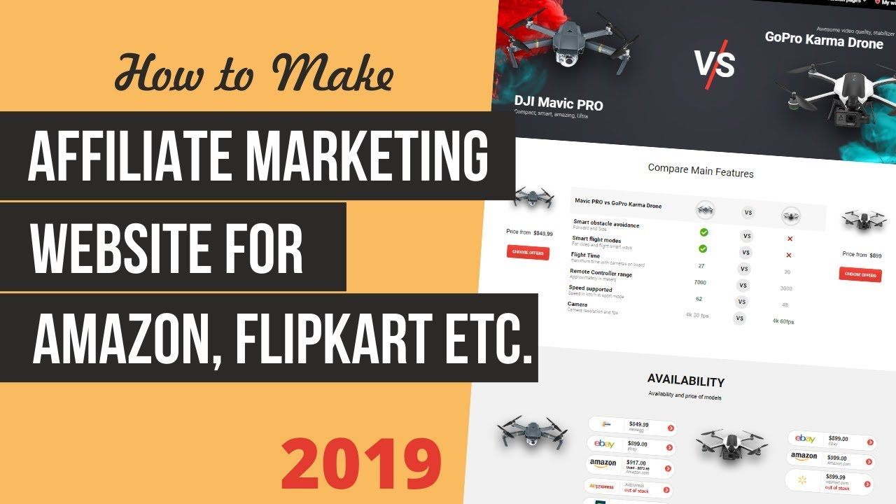 How to Make an Affiliate Marketing Website for Amazon, FlipKart etc. With WordPress & ReHub 2019