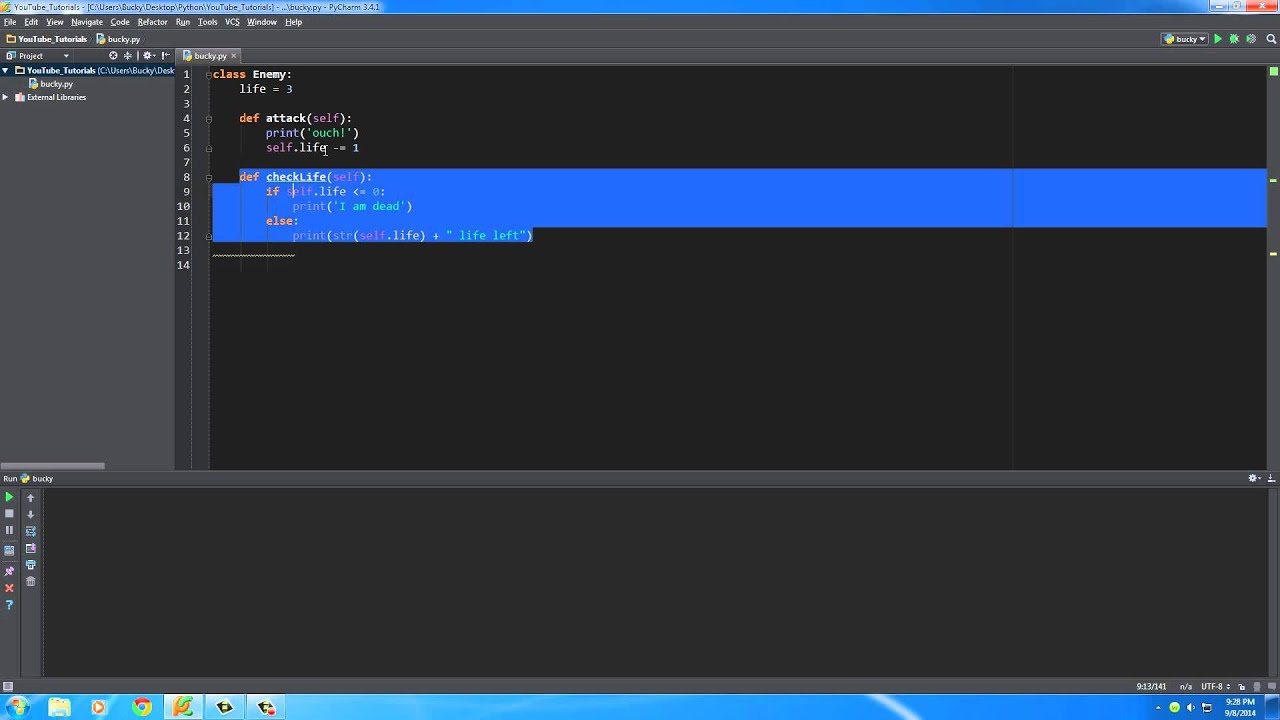 Python Programming Tutorial – 29 – Classes and Objects