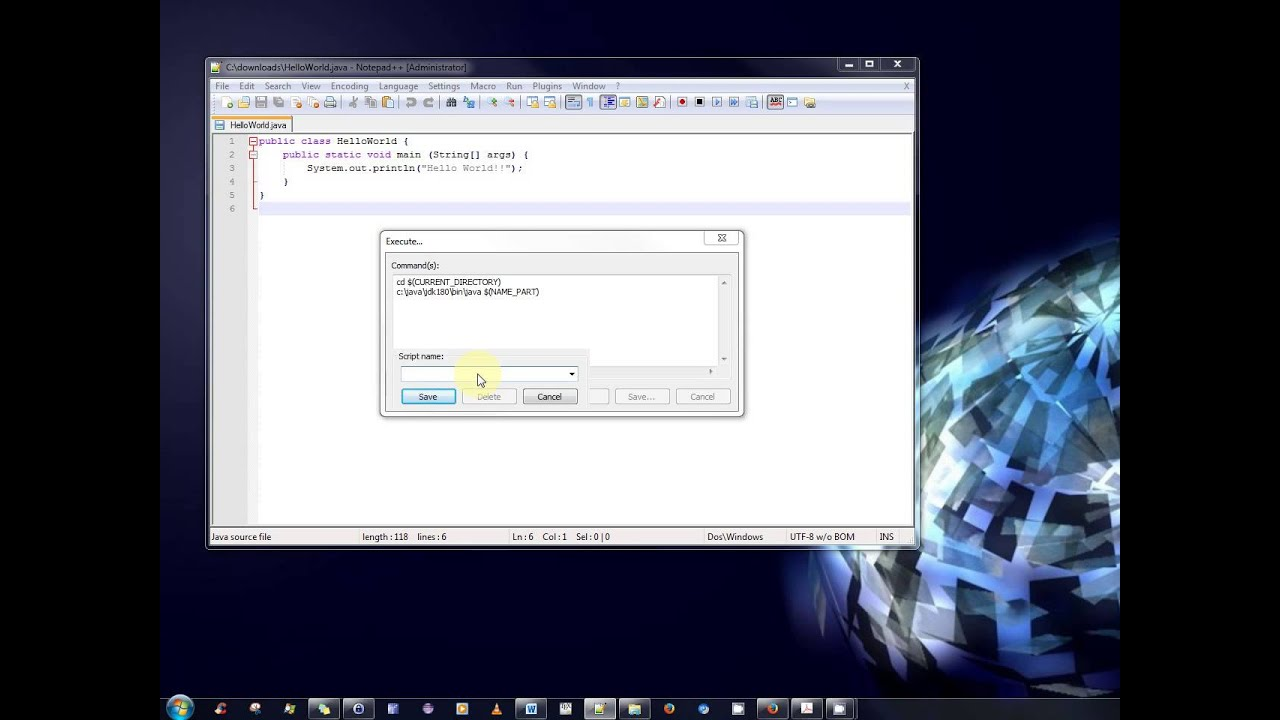 Java Tutorial – How to write, compile and run Java programs all within Notepad++