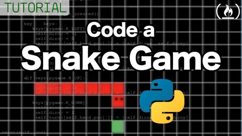 Snake Game Python Tutorial - All Free Video Tutorials