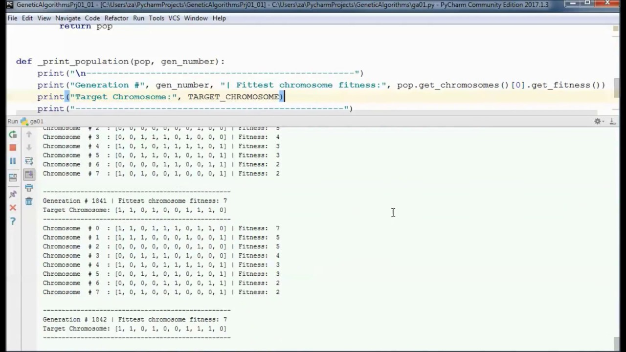 Genetic Algorithms w/ Python – Tutorial 01