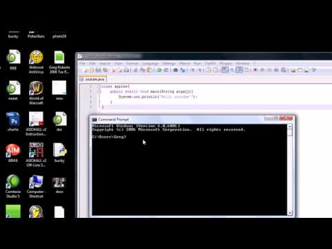 Java Programming Tutorial – 2 – Running a  Java Program