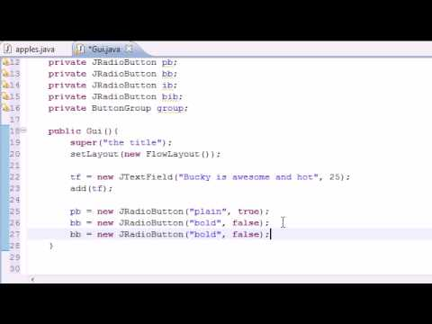 Java Programming Tutorial – 66 – JRadioButton