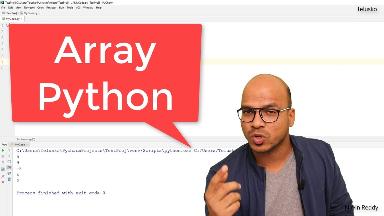 #26 Python Tutorial for Beginners | Array in Python