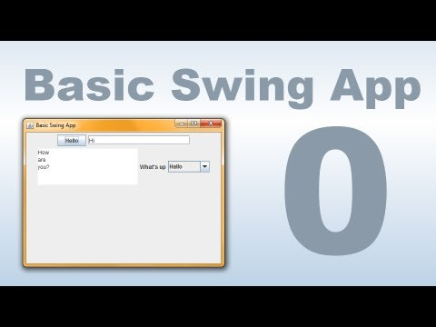 "Java Swing #0 ""Basic Swing"" Tutorial"