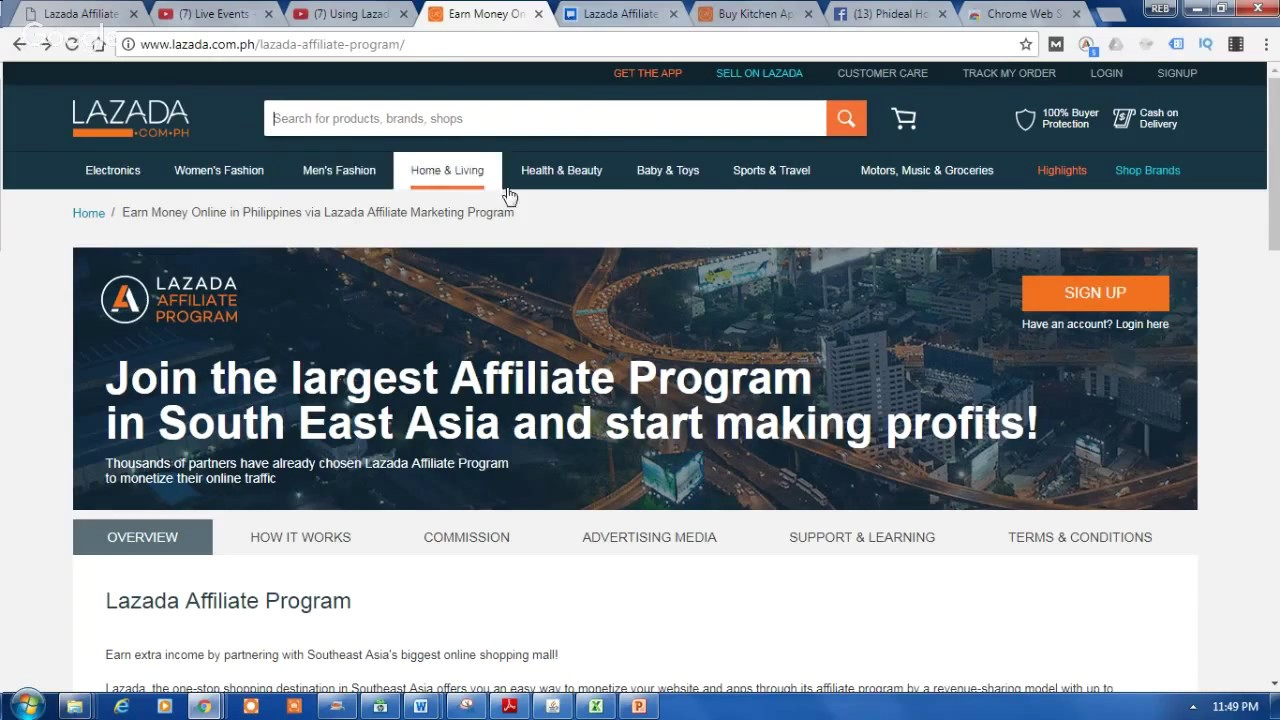 Lazada Affiliate Marketing Registration Tutorial – How to sign up for Lazada Affiliate Program?