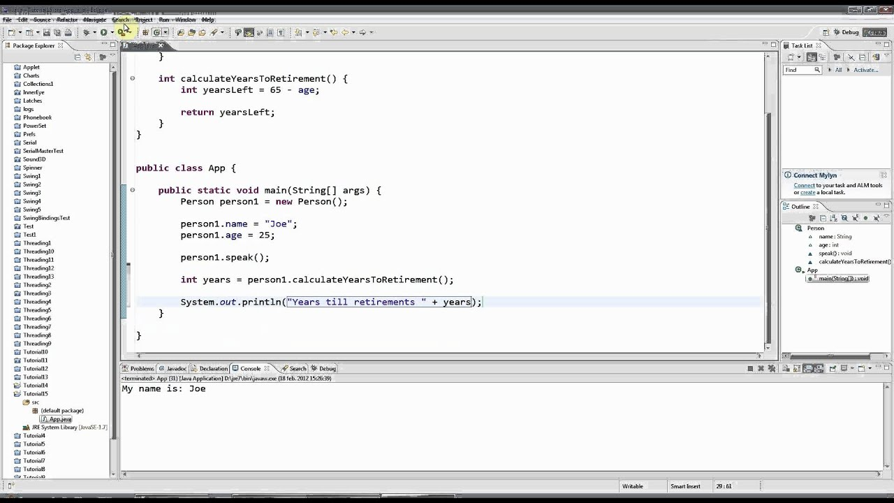 Learn Java Tutorial for Beginners, Part 15: Getters and Return Values