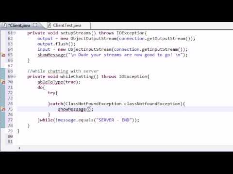Intermediate Java Tutorial – 54 – whileChatting Client