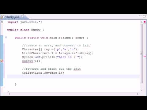 Intermediate Java Tutorial – 10 – Methods reverse and copy