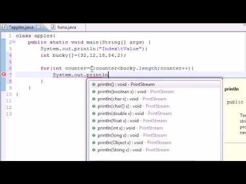 Java Programming Tutorial – 28 – Creating an Array Table