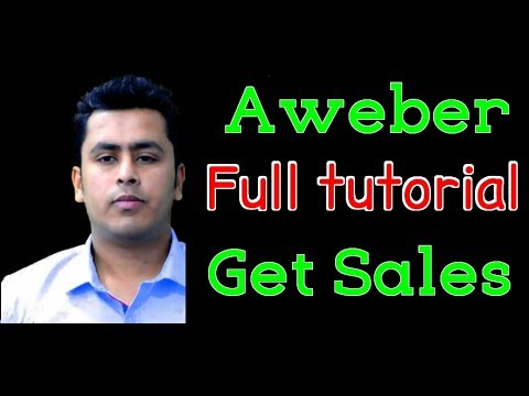 Aweber Tutorial – How To Get Affiliate Sales Using Email List !