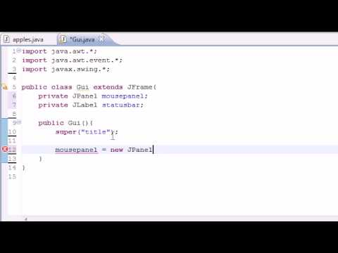 Java Programming Tutorial – 74 – Mouse Events