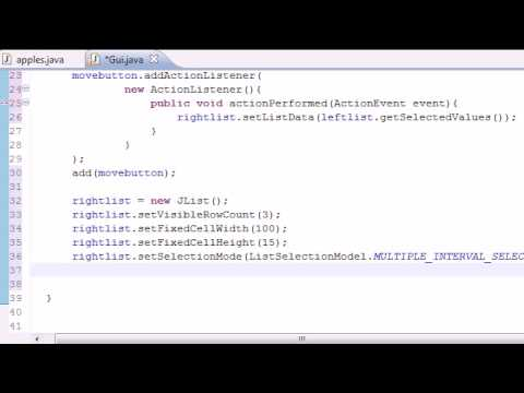 Java Programming Tutorial – 73 – Moving List Items Program