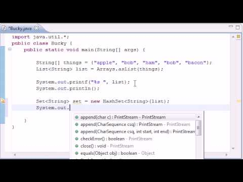 Intermediate Java Tutorial – 16 – HashSet