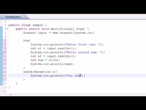 Java Programming Tutorial – 82 – Exception Handling