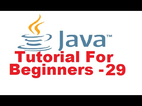 Java Tutorial For Beginners 29 – Java Interfaces