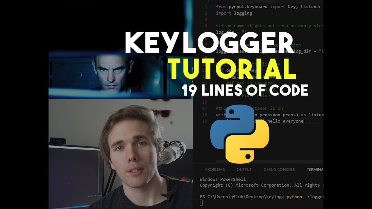 HOW TO MAKE A KEYLOGGER IN 19 LINES OF CODE – PYTHON TUTORIAL