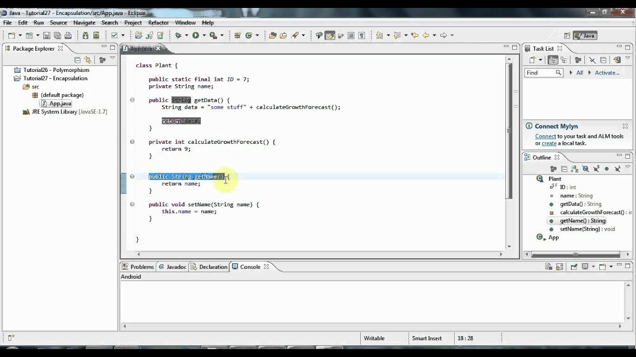 Learn Java Tutorial for Beginners, Part 27: Encapsulation and the API Docs