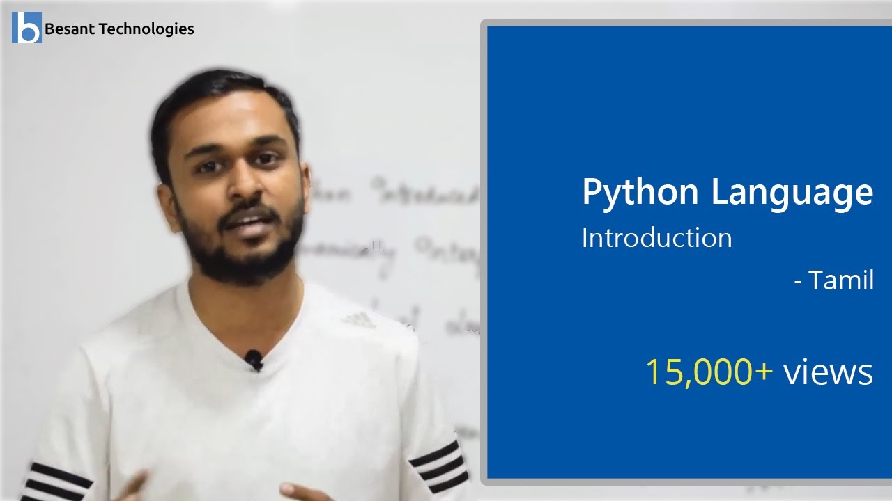Python Language Introduction in Tamil | Python Tutorial For Beginners