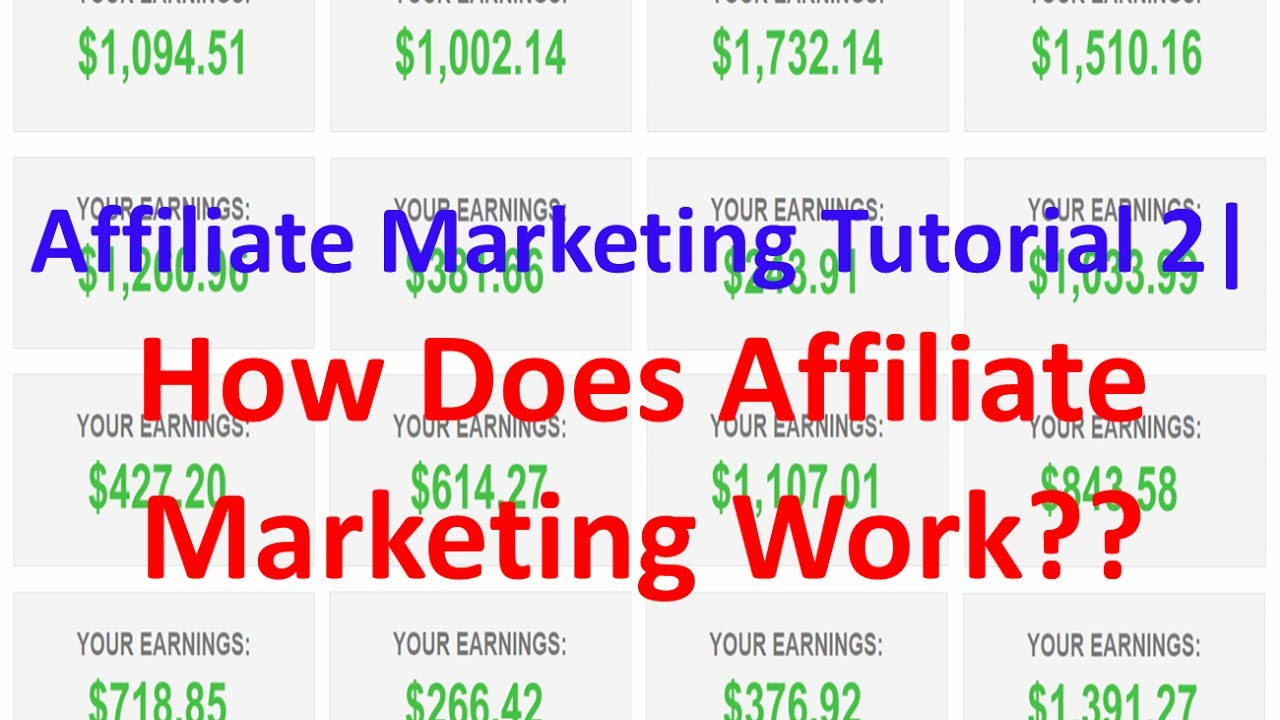 Affiliate Marketing Tutorial 2 | How Does Affiliate Marketing Work??