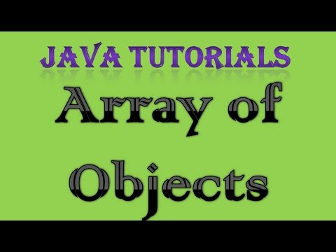 Array of Objects in Java Tutorial