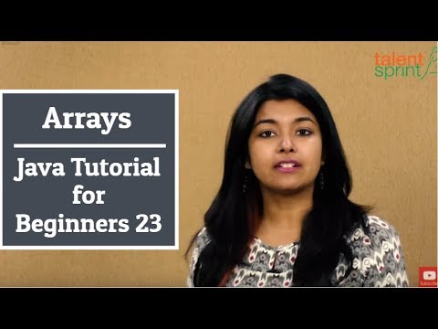 Arrays in Java | Java Tutorial for Beginners 23 | TalentSprint Coding Prep