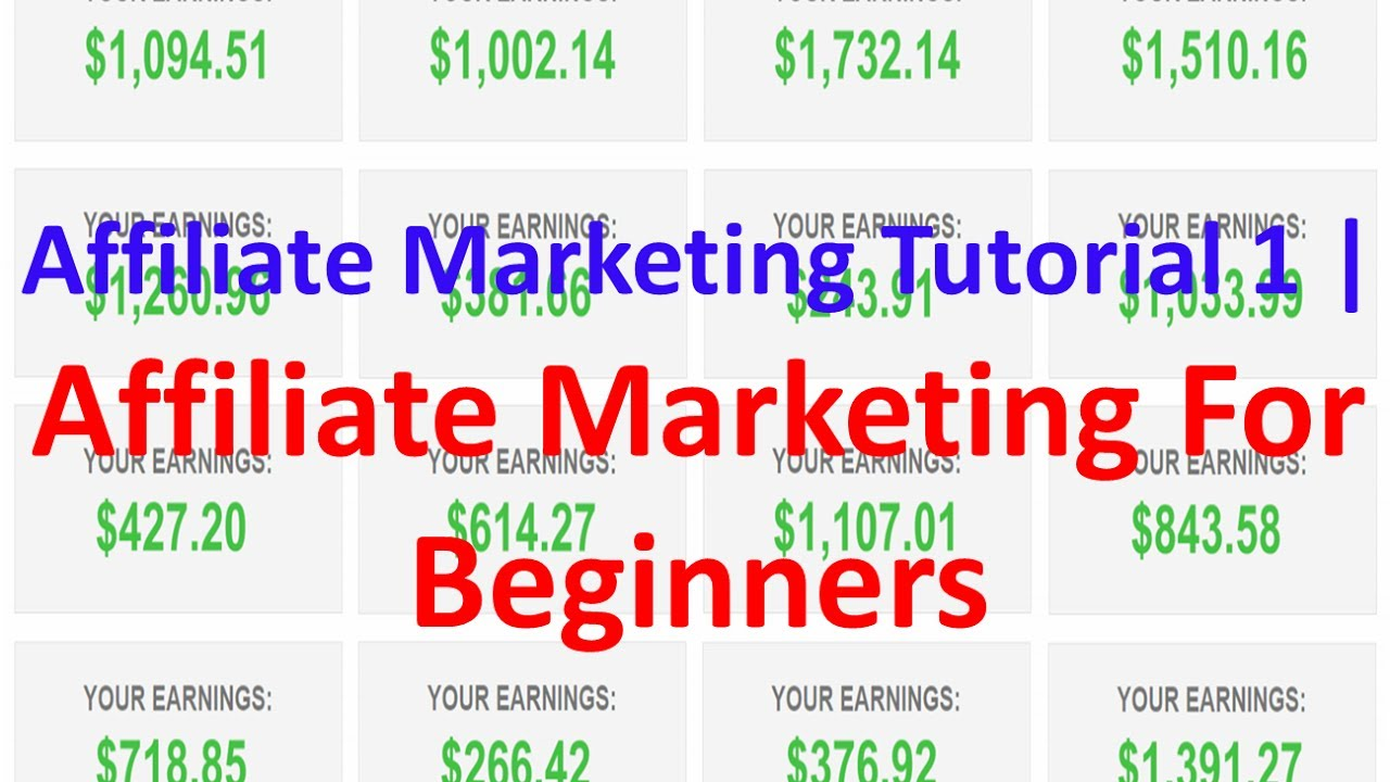 Affiliate Marketing Tutorial Lesson 1 – Clickbank | Affiliate Marketing For Beginners