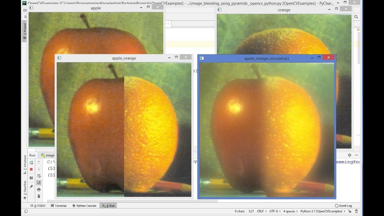 OpenCV Python Tutorial For Beginners 22 – Image Blending using Pyramids in OpenCV