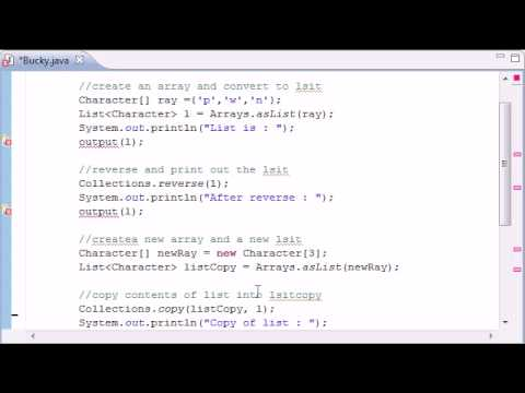 Intermediate Java Tutorial – 11 – Collections Methods fill