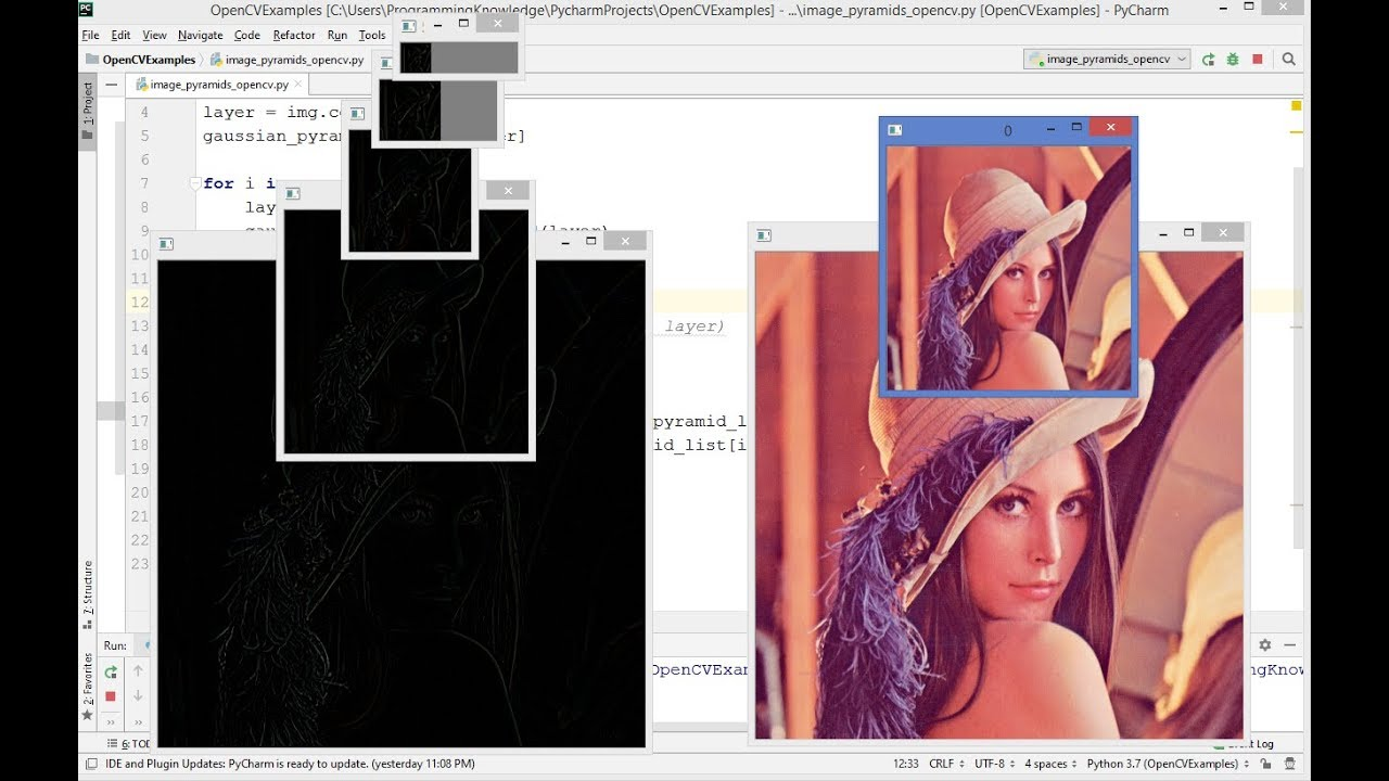 OpenCV Python Tutorial For Beginners 21 – Image Pyramids with Python and OpenCV