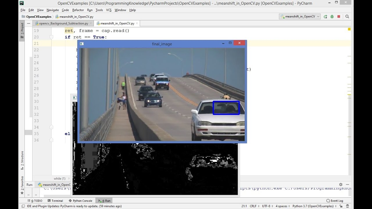 OpenCV Python Tutorial For Beginners 40  – Mean Shift Object Tracking