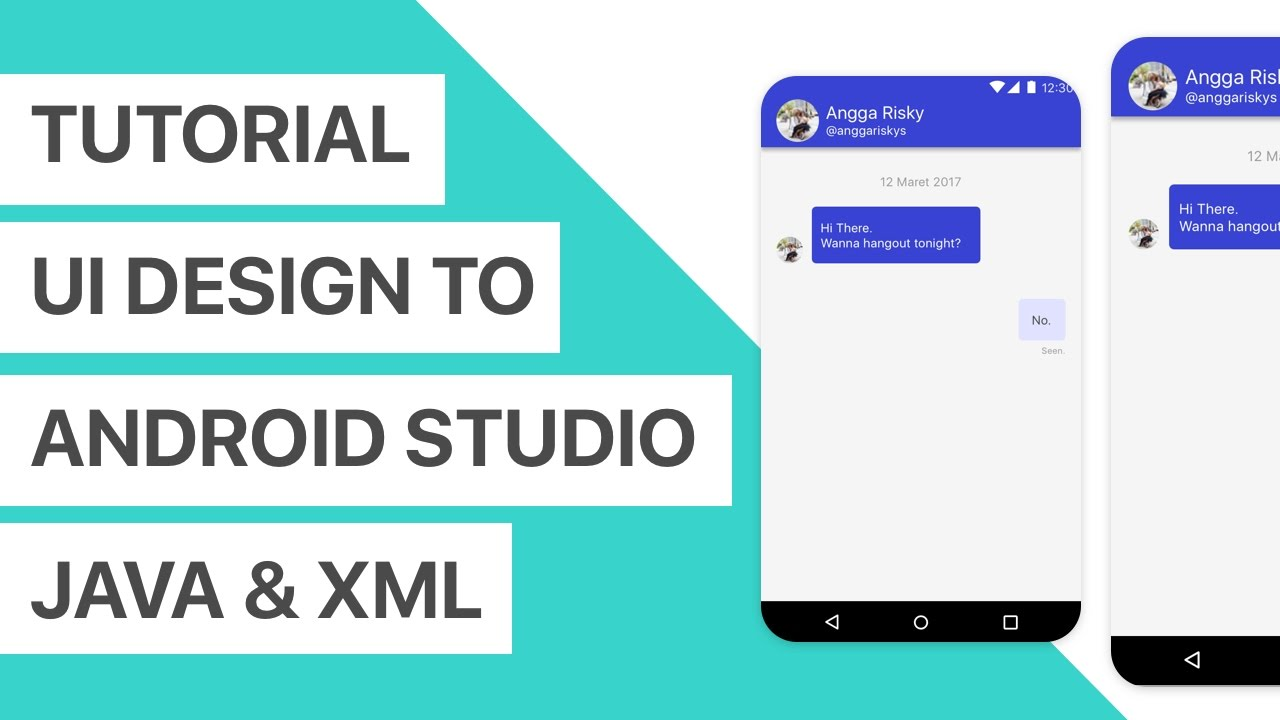 Chat App UI Design to Android Studio XML and Java Tutorial