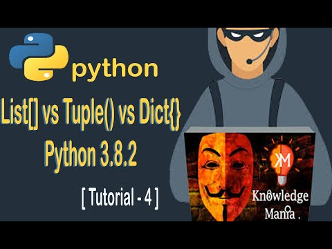 Python Tutorial #4  List, Tuple and Dictionary in python | Python Full Course For Beginners in Hindi
