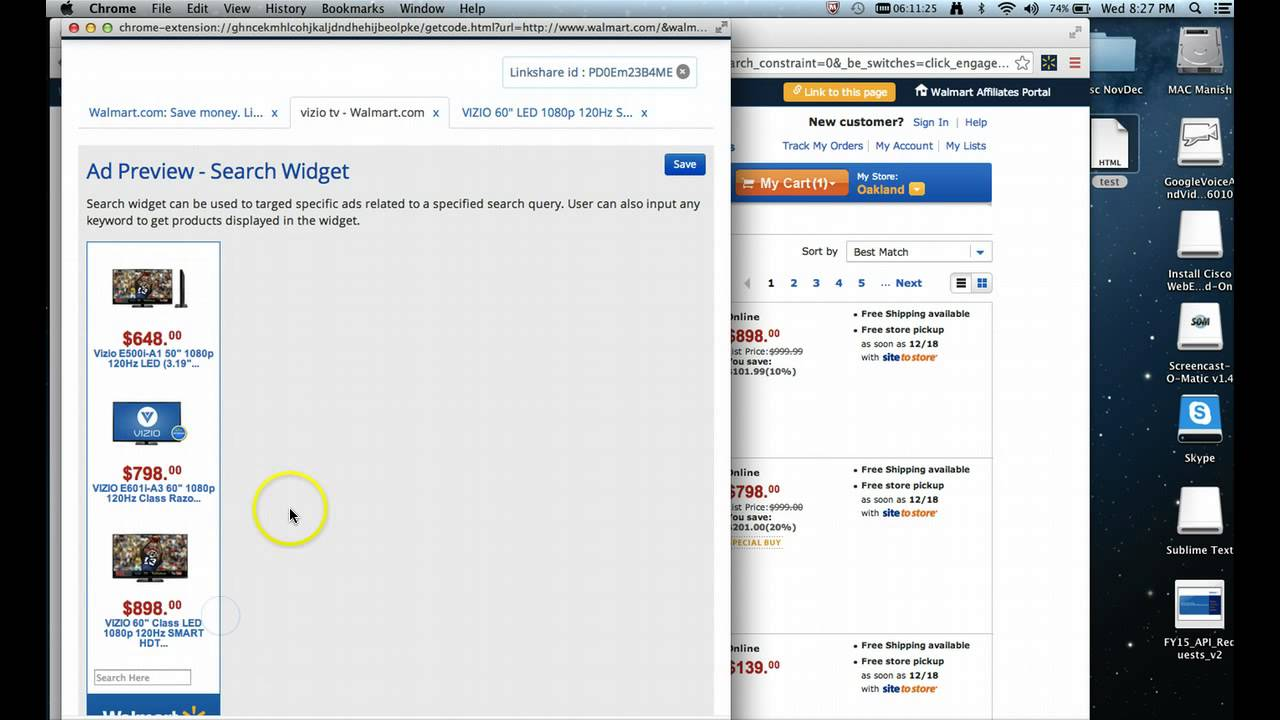 Tutorial – Walmart Affiliates Chrome Extension Tool