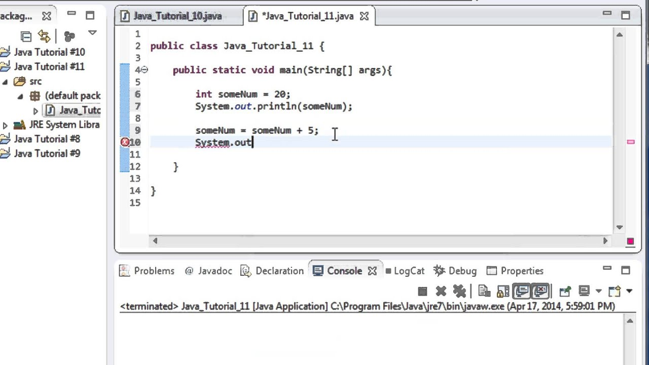 Beginner Java Tutorial #11: Shorthand Assignment Operators