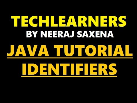 Java identifiers | java tutorial