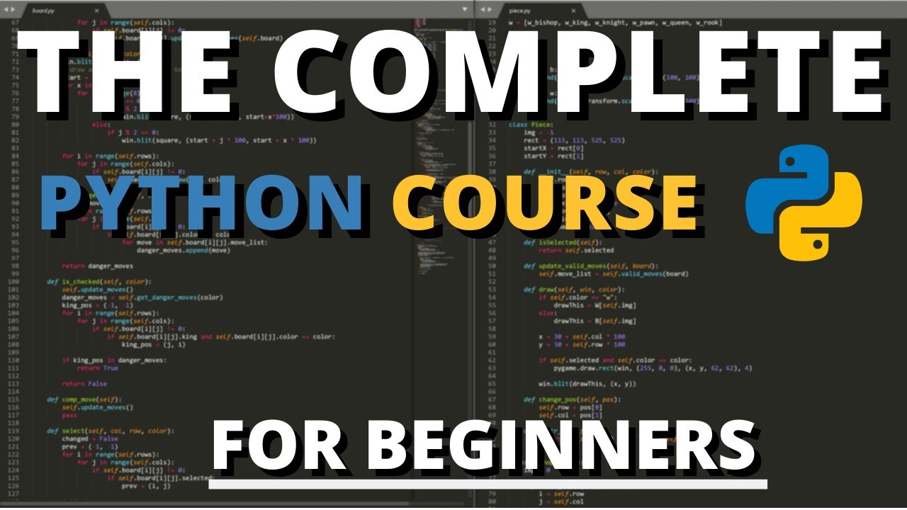 The Complete Python Course For Beginners