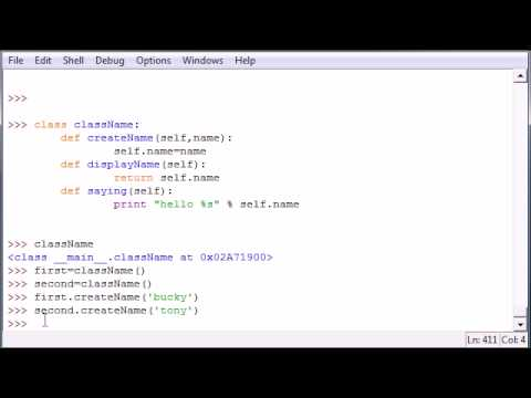 Python Programming Tutorial – 33 – Classes and Self