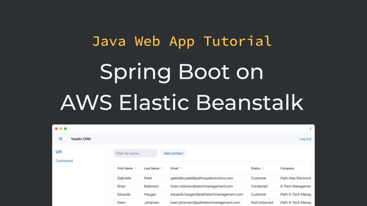 Java tutorial: Deploying a Spring Boot application with MySQL on AWS Elastic Beanstalk