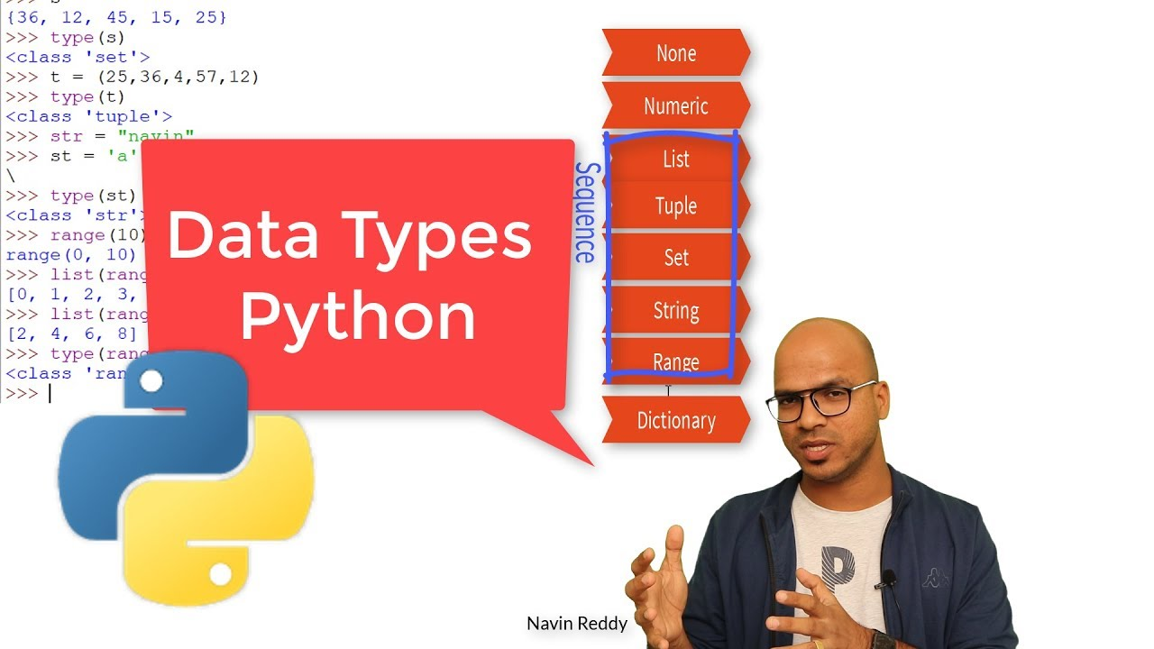 #10 Python Tutorial for Beginners | Data Types in Python