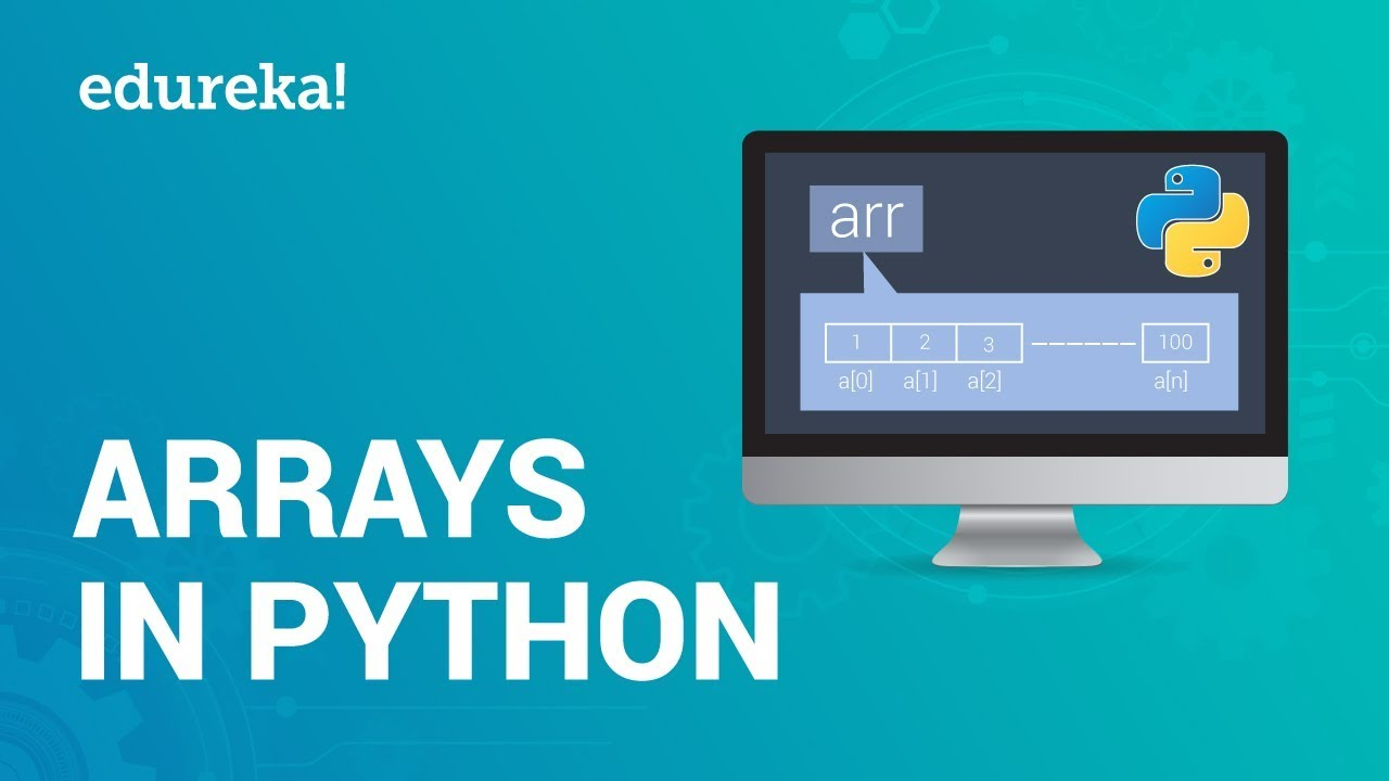 Arrays In Python | Python Array Operations | Python Tutorial For Beginners | Edureka